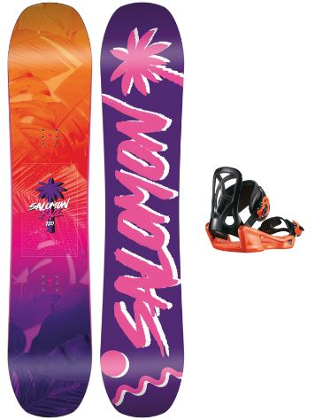 Salomon Grace 130 + Goodtime XS 2018 Girls Snowboard set