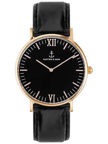 Kapten&Son Campus Black Suede Leather Black 40mm