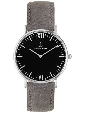 Kapten&Son Campus Grey Suede Leather Black 40mm