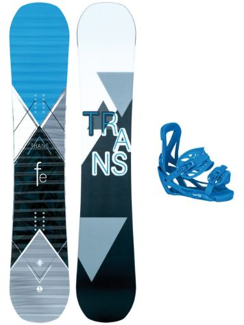 TRANS FE Rocker 159W + Team L Blue 2018 Snowboard set