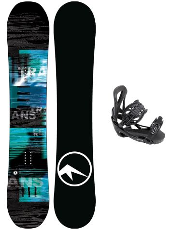 TRANS LTD 161W + Team L Blk 2018 Snowboard Set