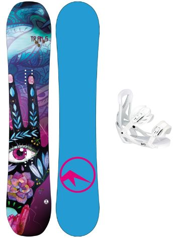 TRANS LTD 147 + Team Girl M Wht 2018 Snowboard set