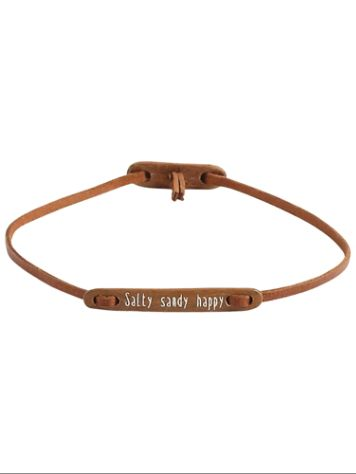 Float Message Salty Sandy Happy Bracelet