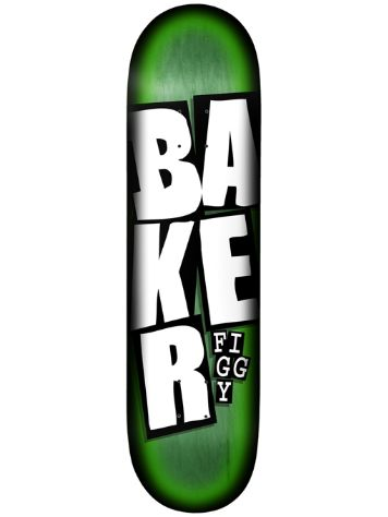"Baker Figgy Stacked Name Green 8.125"" Skateboa"