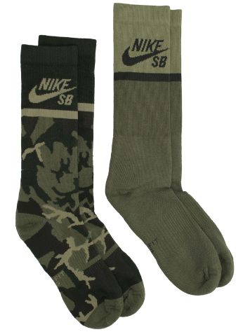 Nike Energy Crew Skateboarding 2 Pair Socks