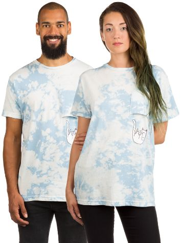 Rip N Dip Falling For Nermal Sky Tie Dye Pocket Camiseta